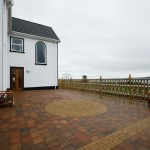 Secure patio area at Seaview Guesthouse