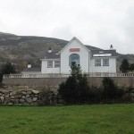 Rear view of Seaview Guesthouse with Mourne Mountains in the background