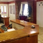 The reception area at Seaview Guesthouse